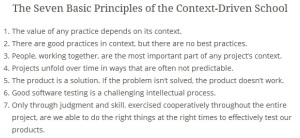 Original CDT Principles by Cem Kaner and James Bach