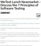 """7 Testing Principles"" – Meetup takeaways"